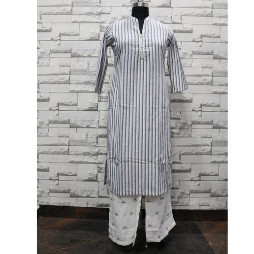 Grey kurti palazzo set of 4 sizes