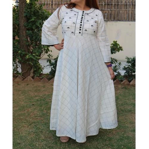 Cotton Embroidered Gown set of 4 sizes