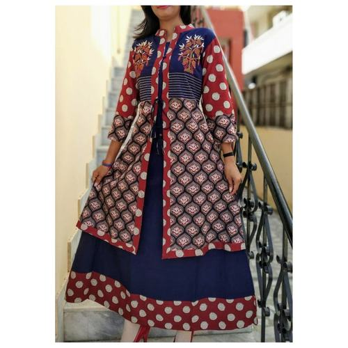 Cotton Embroidered Gown set of 3 sizes