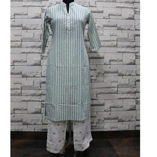 Green kurti palazzo set of 4 sizes
