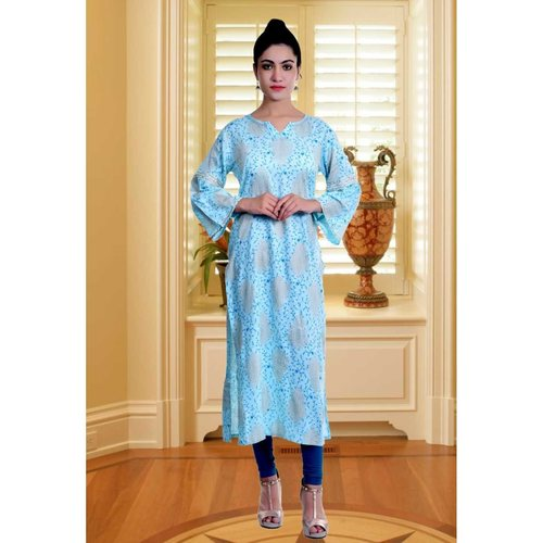 Blue printed kurta set of 4 sizes