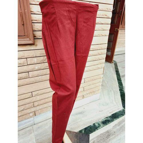 Cotton Maroon Pant