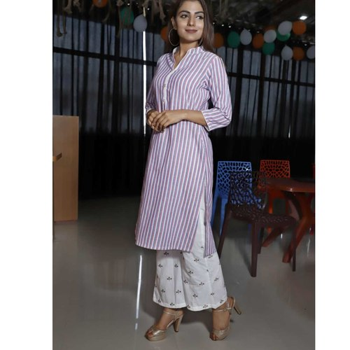 Purple kurti palazzo set of 4 sizes