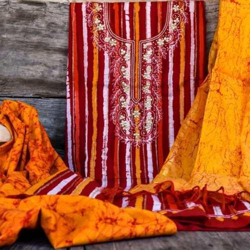 SL Fashion Printed Suit with ChiffonKota Silk Dupatta
