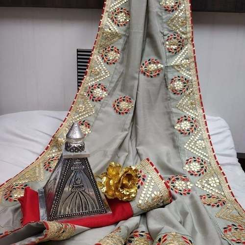 Visitra Silk With Gota Patti Work