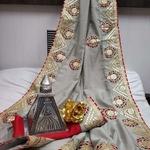 Visitra Silk With Gota Patti Work