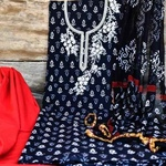 SL Fashion Printed Suit with ChiffonKota Silk Dupatta