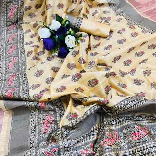 SL Fashion Tussar Silk Saree