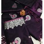 SL Fashion  Lichi Silk Saree (Purple)