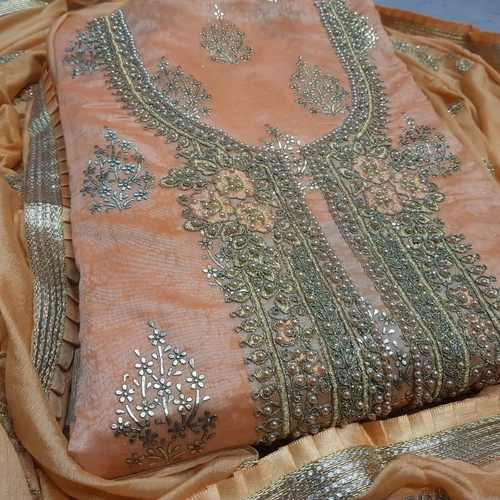 SL Fashion Chanderi Dress Material