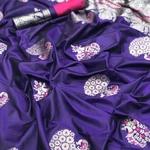 Banarsi Soft Silk with Mina Work