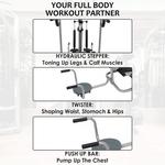 4 in 1 deluxe manual treadmill