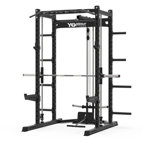 POWER CAGE WITH SMITH MACHINE / LATPULL DOWN AND BICEP CURL