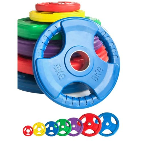 Finger Tri Grip Weight Plate - Colorful