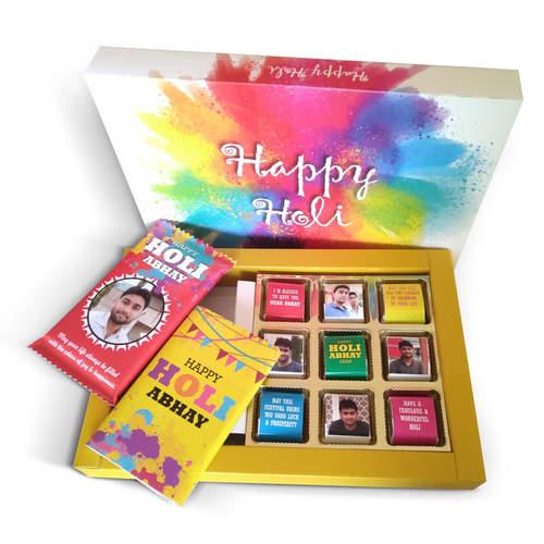 Holi Gift - Personalized Assorted Chocolate Box 2B9C