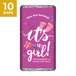 Baby Shower Return Gifts, Personalize Chocolates -10 Bars