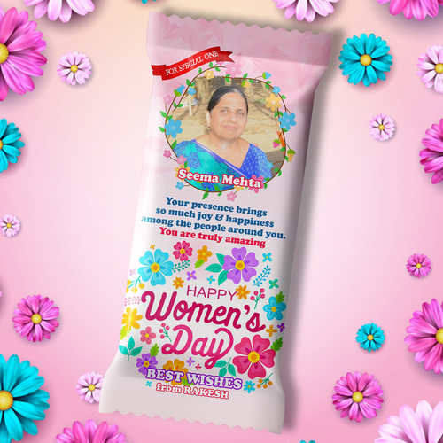 Women's Day Gift - Personalized Chocolate Large Bar (100g)