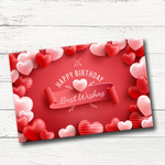 Birthday Gift Box, Personalized Assorted Chocolate 2 Bars + 9 Cubes