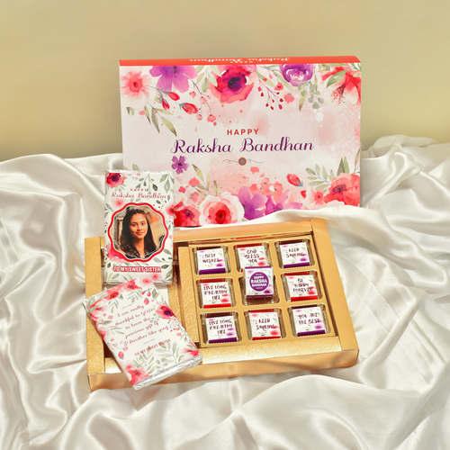 Raksha Bandhan Gift for Sister, Personalized Chocolate Box