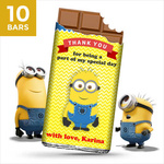 Birthday Return Gifts, Minion Personalize Chocolates -10 Bars