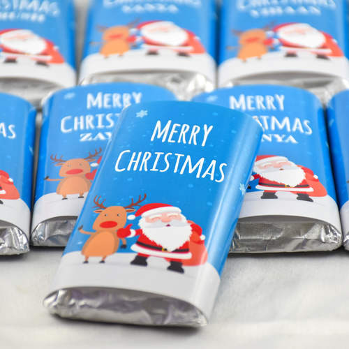 Christmas Gift, Personalize Chocolates -20 Bars
