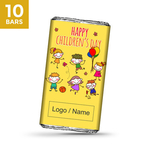 Childrens Day Gift, Personalize Chocolate -10 Bars