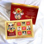 Bihu Gift Box, Personalized Assorted Chocolate (1 Bar + 9 Cubes)