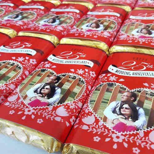 Wedding Anniversary Return Gifts, Personalize Chocolates -10 Bars