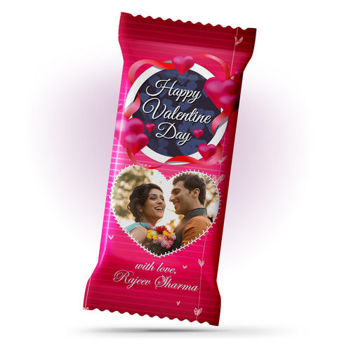 Valentines Day Gift, Personalized Chocolate Large Bar 100g