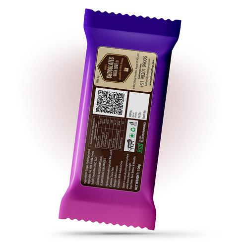 Raksha Bandhan Gift, Personalized Chocolate Large Bar 100g