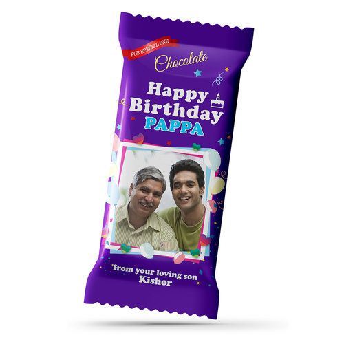 Birthday Gift, Personalize Chocolate Large Bar 100g