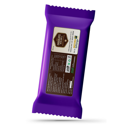 Valentines Day Gift, Personalize Chocolate Large Bar 100g