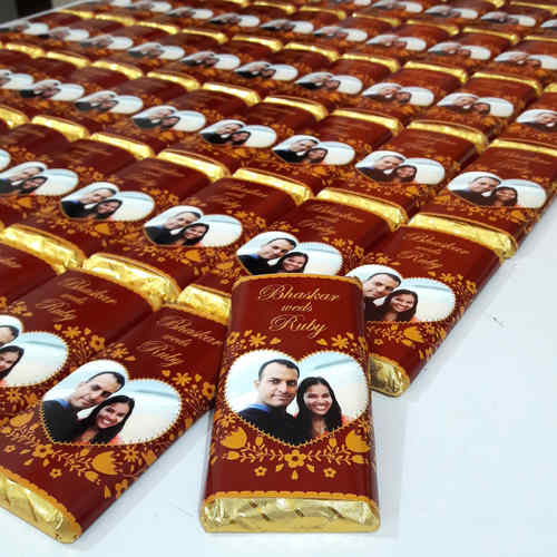 Wedding Return Gifts, Personalize Chocolates -10 Bars