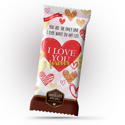 I Love You Chocolate Large Bar (100g)