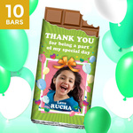 Birthday Return Gifts, Personalize Chocolates -10 Bars