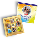 Friendship Day Gift Box, Personalized Assorted Chocolate (9 Cubes)