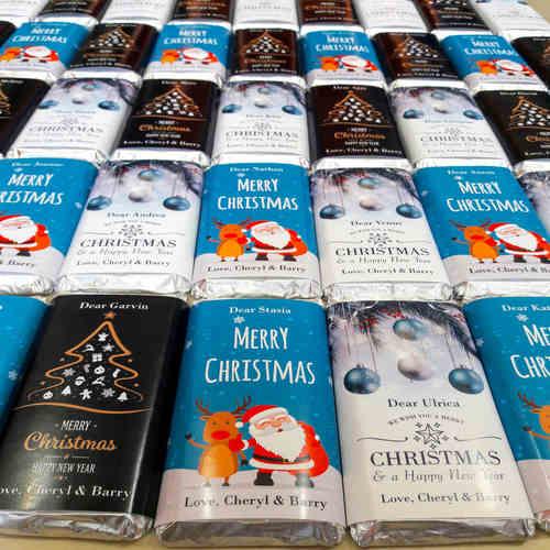 Christmas Gift, Personalize Chocolates -20 Bars