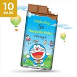Birthday Return Gifts, Doraemon Personalize Chocolates -10 Bars