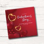 Valentine's Day Gift Box, Assorted Chocolate (9 Cubes)