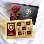 Valentine's Day Gift Box, Personalized Assorted Chocolate (1 Bar + 9 Cubes)