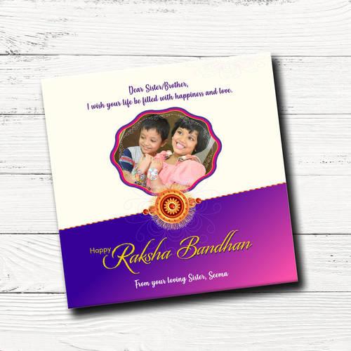 Raksha Bandhan Gift Box, Personalized Assorted Chocolate 9 Cubes