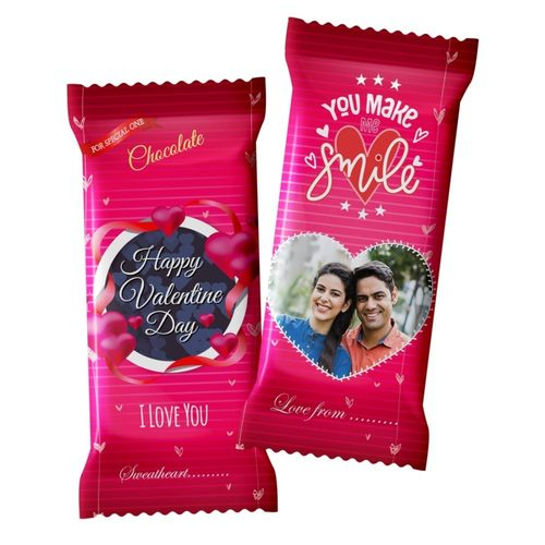 Valentines Day Gifts, Personalized Chocolate 2 Large Bars 100g