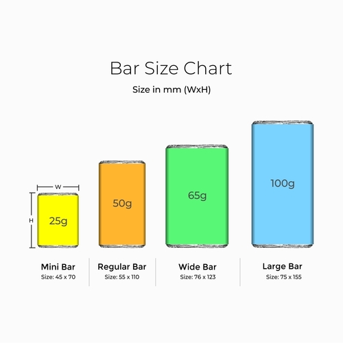 Personalize Bar Design on request for Return Gifts - 10 Bars