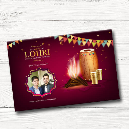 Lohri Gift Box, Personalized Assorted Chocolate (1 Bar + 9 Cubes)