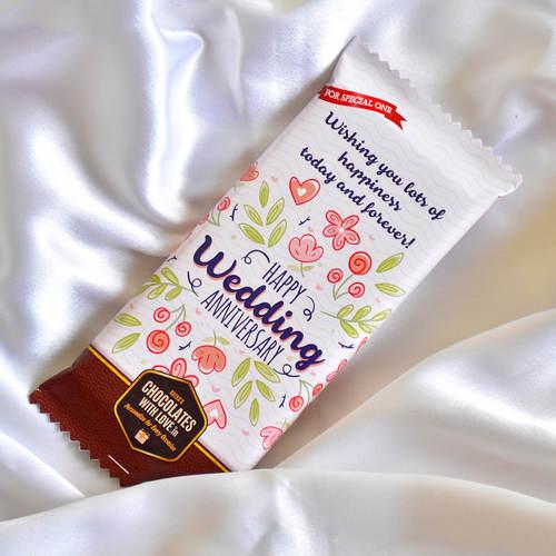 Wedding Anniversary Chocolate Large Bar (100g)