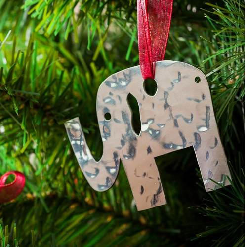 Elephant # 1 - Stainless Steel Ornament