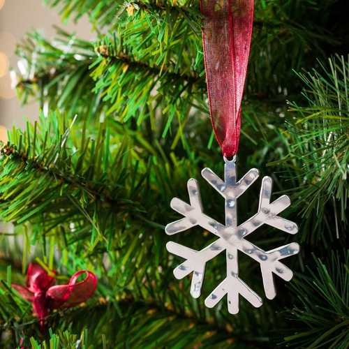 Snowflake # 1 - Stainless Steel Ornament