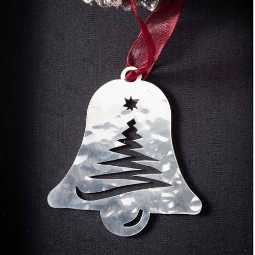 Bell with Tree - Stainless Steel Ornament