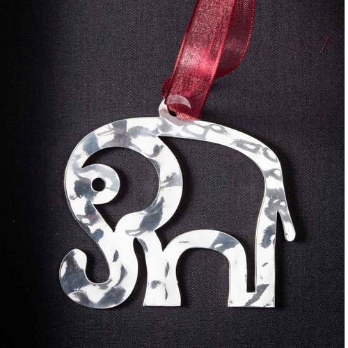 Elephant #2 - Stainless Steel Ornament