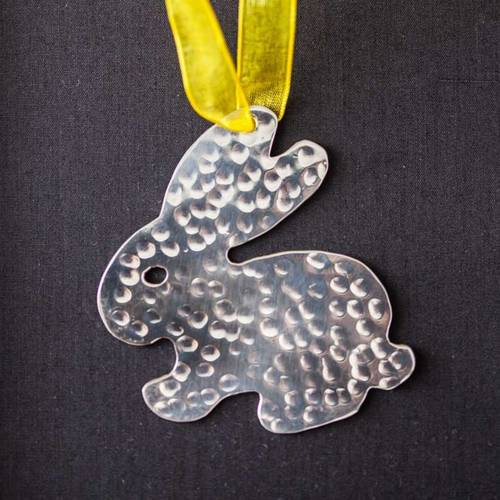 Easter Bunny - Stainless Steel Ornament